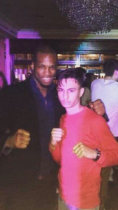 Kam with Bellator MMA star MVP (Michael Page)