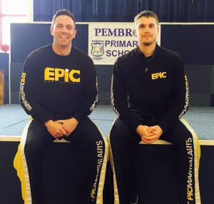 Matt with EPIC head coach Andy Cleeves